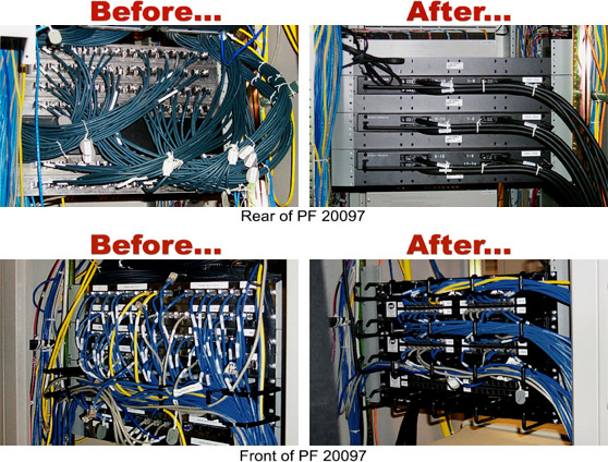 Patch Panel before/after front/back