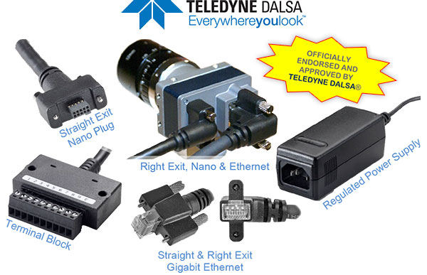I/O Cables for Teledyne Dalsa Genie Nano Camera. Officially Endorsed and Approved by Teledyne Dalsa